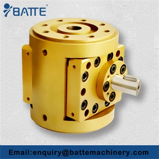 Circular melt pump for plastic extruder