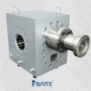Plastic extrusion gear melt pump